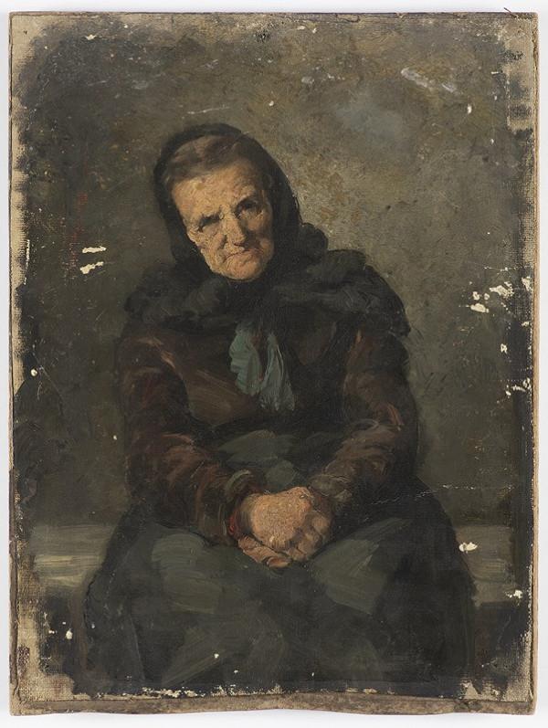 Neznámý český autor – Stará žena