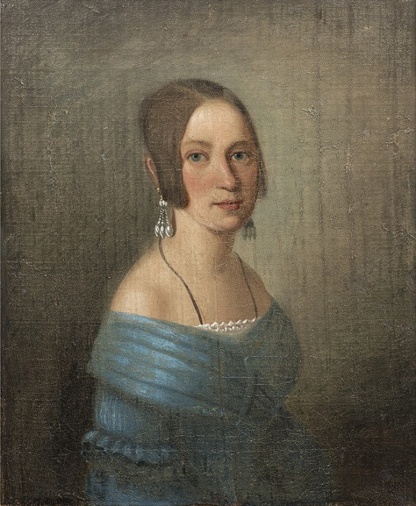 Neznámý český autor - Portrét dámy
