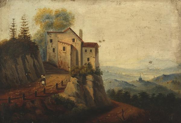 Neznámý malíř – Krajina se zámkem