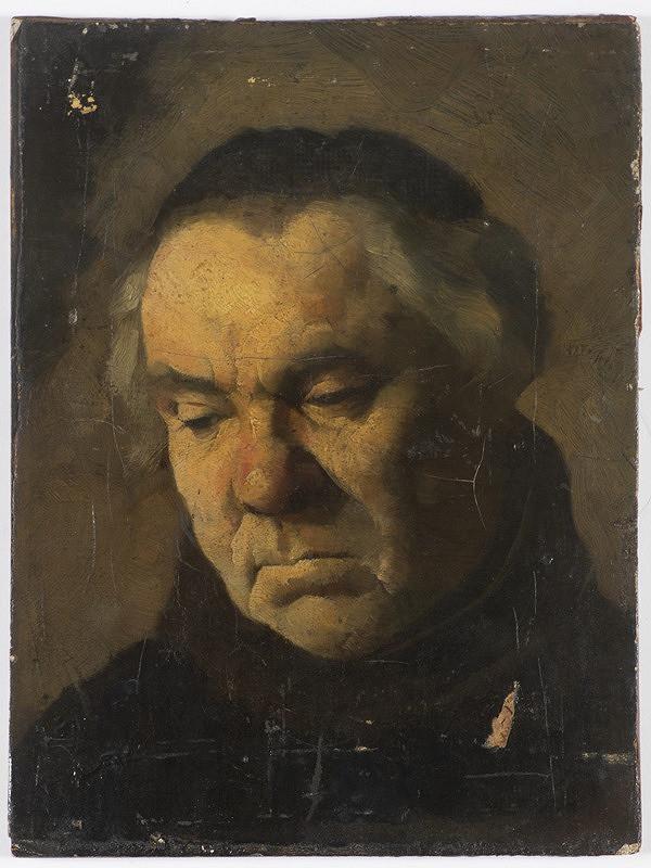 Neznámý český autor - Hlava mnicha