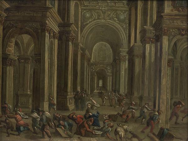 Neznámý středoevropský (?) autor - Kristus vyhání kupce z chrámu
