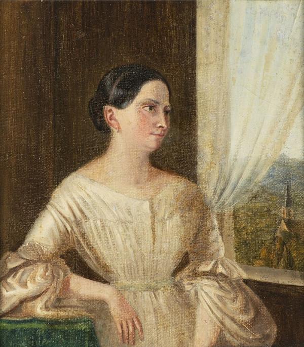 Neznámý český autor – Portrét ženy u okna
