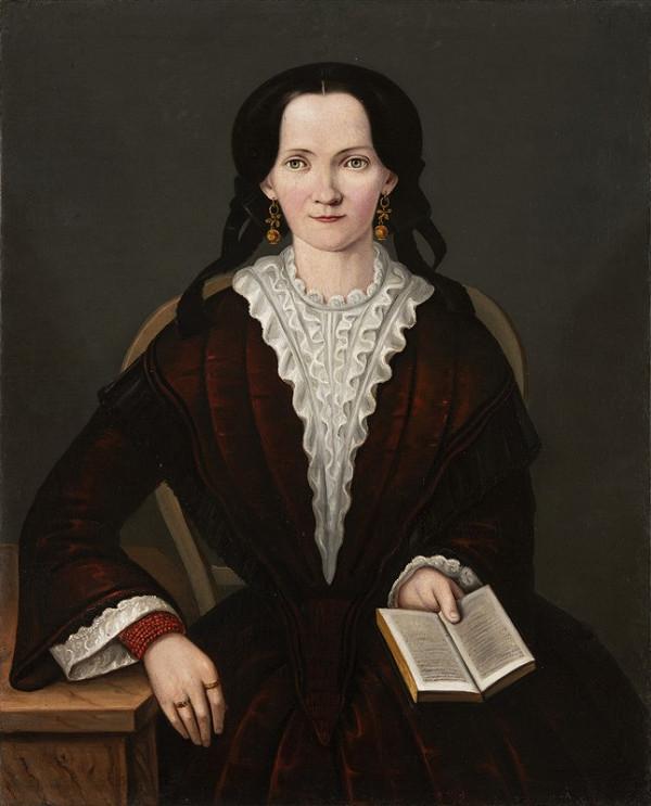 Neznámý český autor – Portrét dámy s knihou