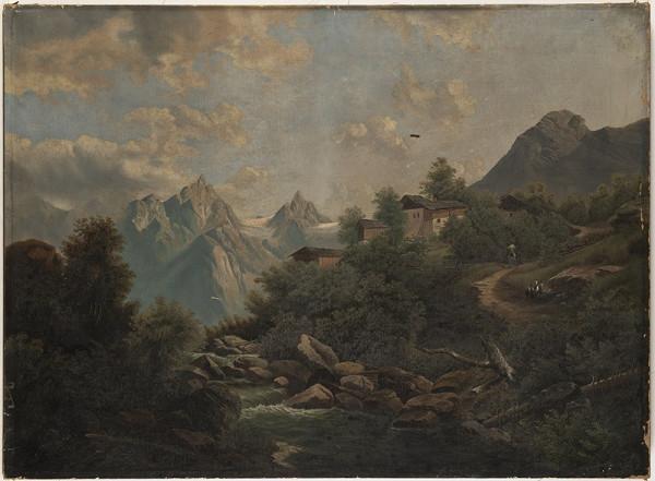 Neznámý malíř – Alpská krajina