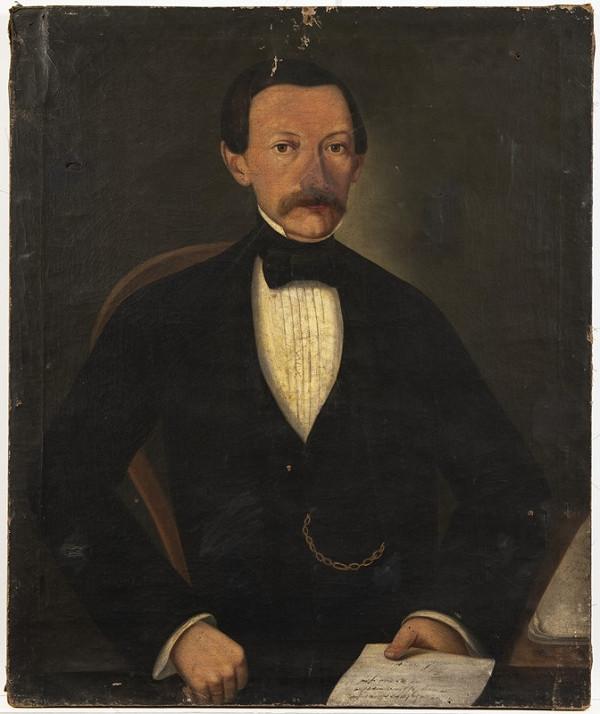 Neznámý český autor - Portrét pána s listinou