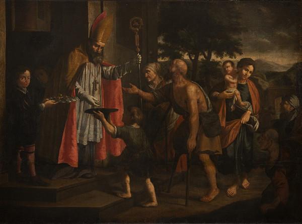Jan Jiří Heinsch - Sv. Mikuláš udělující almužny