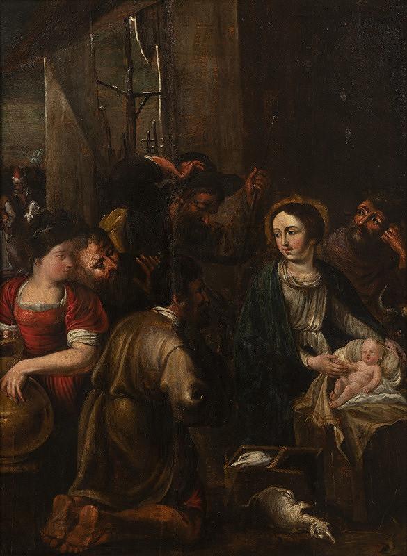 Neznámý vlašský mistr - Klanění pastýřů