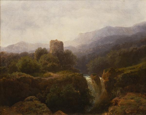 August Bedřich Piepenhagen – Krajina s hradem