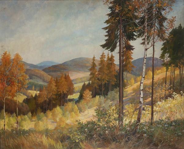 František Kaván – Lesní stráň v Kameničkách