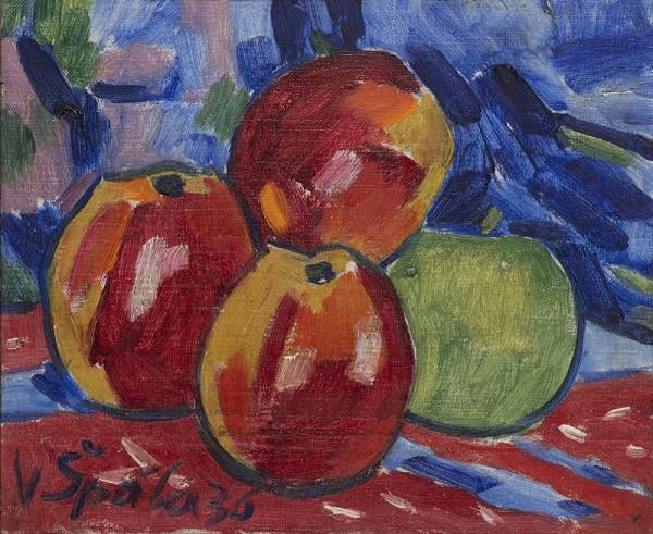 Václav Špála - Zátiší s jablky