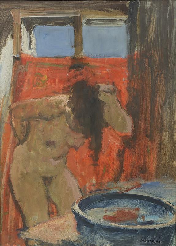 Jakub Obrovský - Myjící se dívka u okna