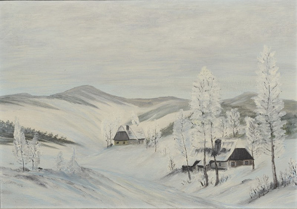 Neznámý autor (značka F.R.H.) - Zimní krajina