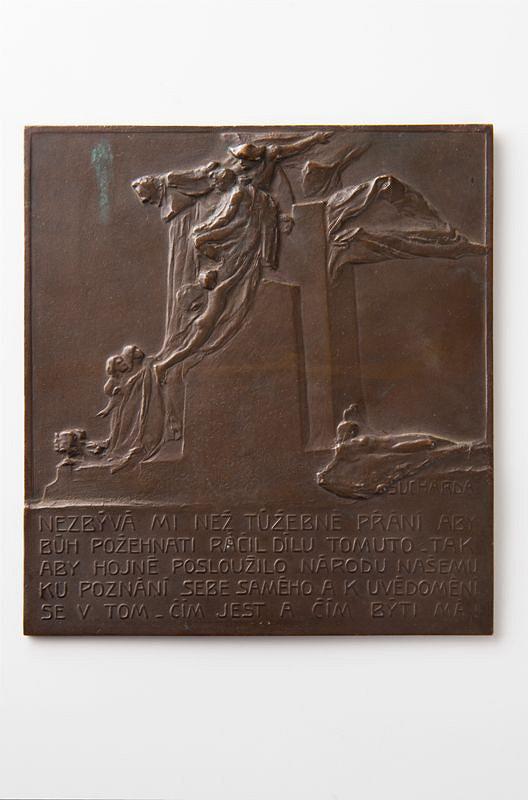 Stanislav Sucharda – Plaketa k pomníku Palackého