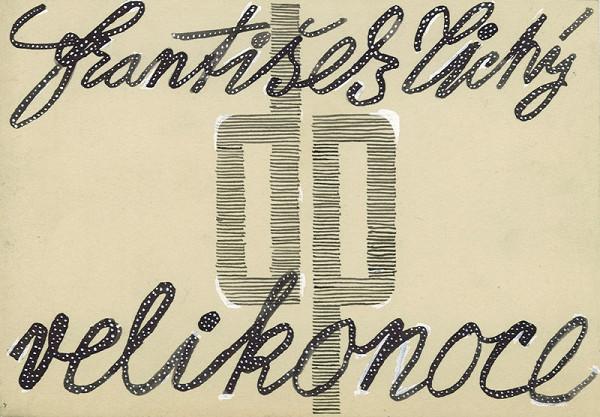 František Tichý - Velikonoce - návrh na obálku