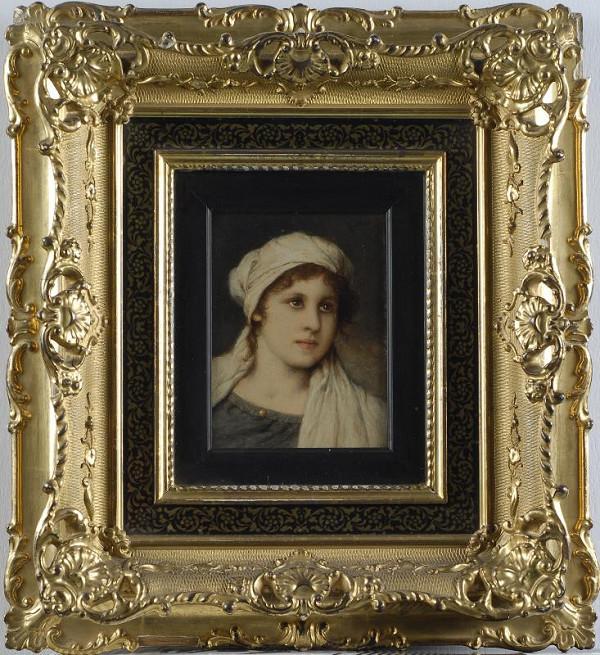 Gabriel Cornelius Max – Podobizna dívky v bílé šatce