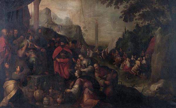 Hendrick van Balen - způsob – Tanec kolem zlatého telete
