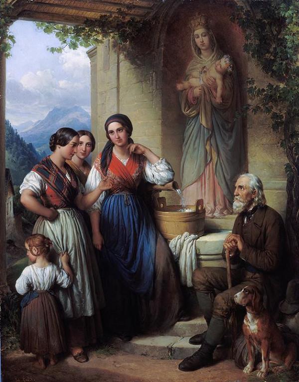 Johann Nepomuk Ender - Ženy u studny (Madona s děckem)