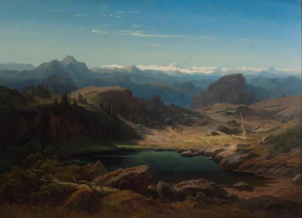 Eduard Schleich st. – Jezírko v Alpách