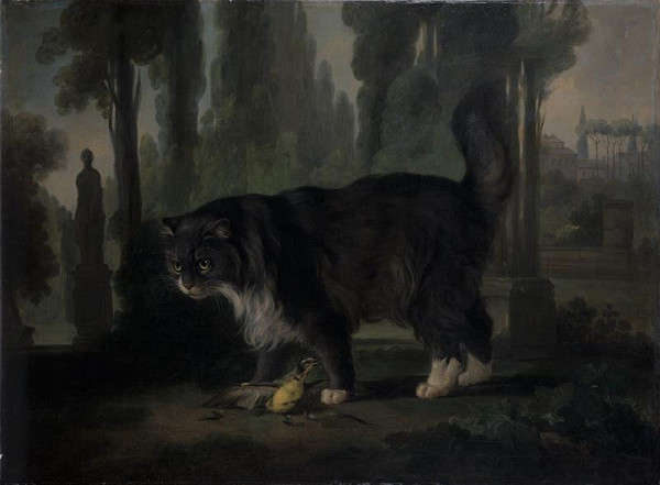 Martin Ferdinand Chvátal (Quatal) - Kocour v zahradě vily Negthon v Římě