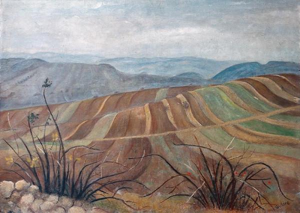 Otakar Kubín (Coubine) - Krajina s pruhy polí