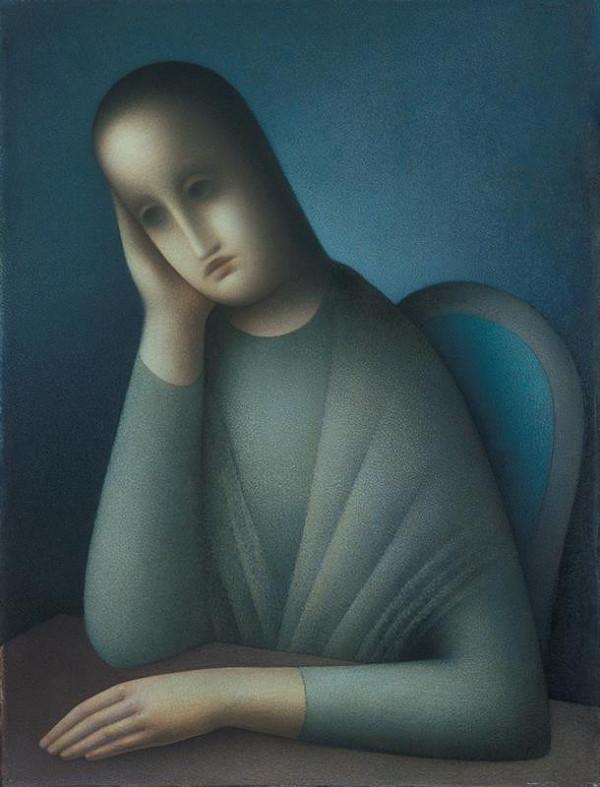 Jan Zrzavý – Sedící dívka