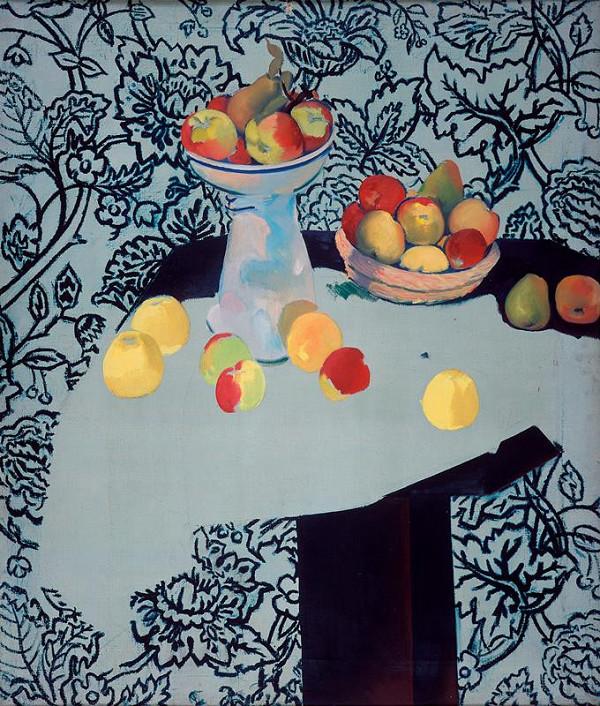 Jan Trampota - Zátiší s jablky