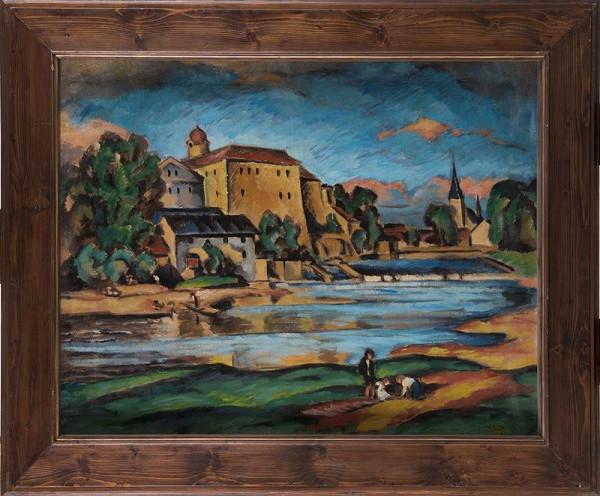 Alfred Justitz – Poděbrady; Vlastní portrét