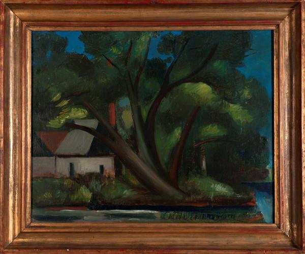 Alfred Justitz – Krajina s velkým stromem