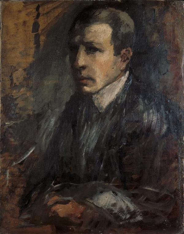 Alfred Justitz - Vlastní podobizna
