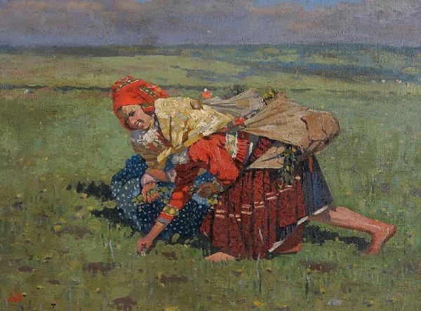 Joža Uprka – Dvě trávnice(Na poli)