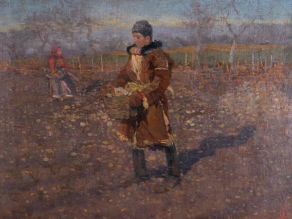 Joža Uprka – V kamenitém vinohradě(Ve vinohradech)