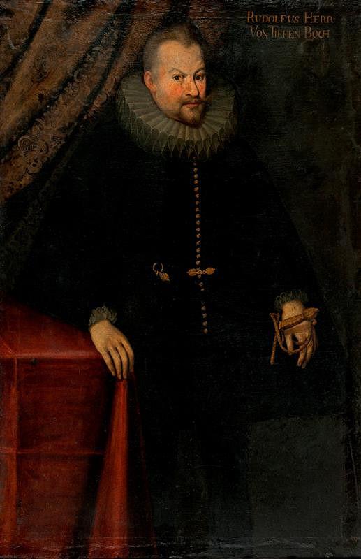 neznámý malíř rakouský - Podobizna hraběte Rudolfa Teuffenbacha