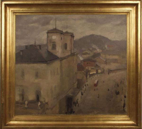 Rudolf Kremlička - Hybernské nádraží (Pohled z ateliéru)