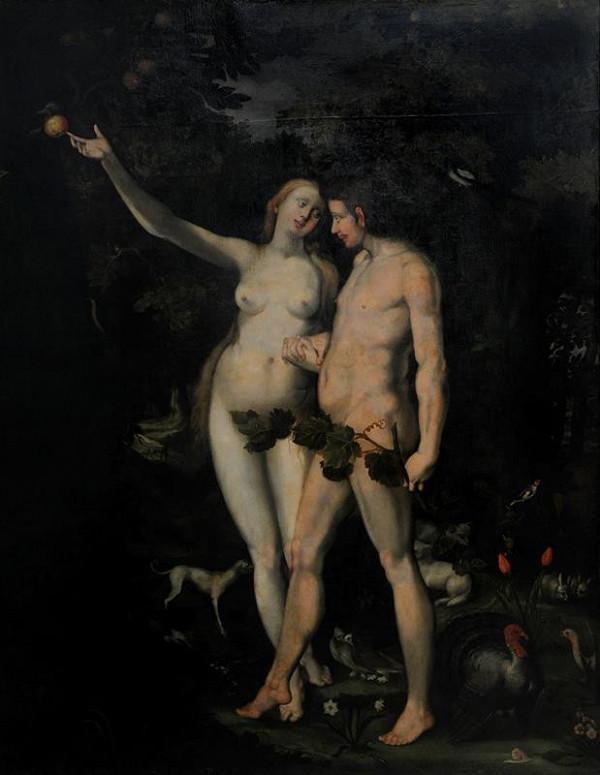 neznámý malíř středoevropský – Adam a Eva