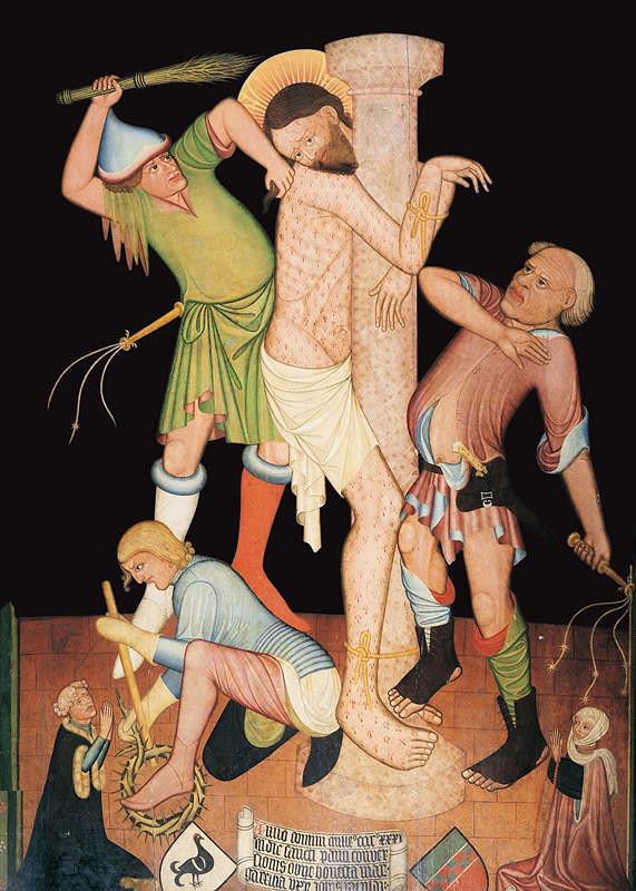 neznámý malíř kladský (?) - Bičování Krista (Epitaf Markéty, manželky Jana Ratolda)