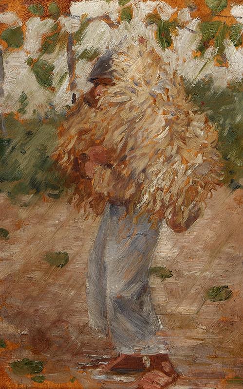 Joža Uprka - Chlapec v kožuchu