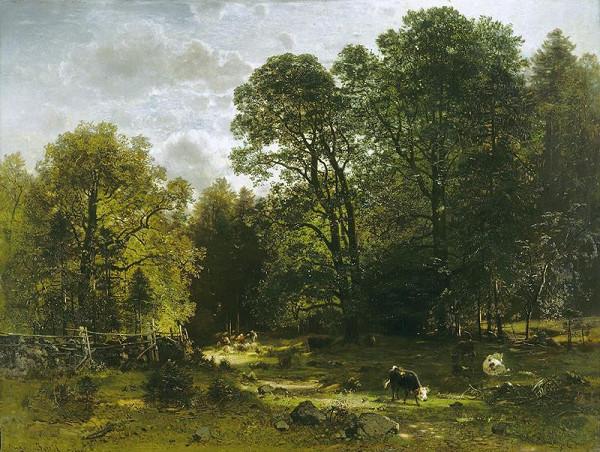 Eugen (Evžen) Jettel - Motiv z Ramsau (Listnatý les)