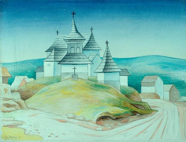 Jan Zrzavý - Krajina (Krásnohorský kostel)