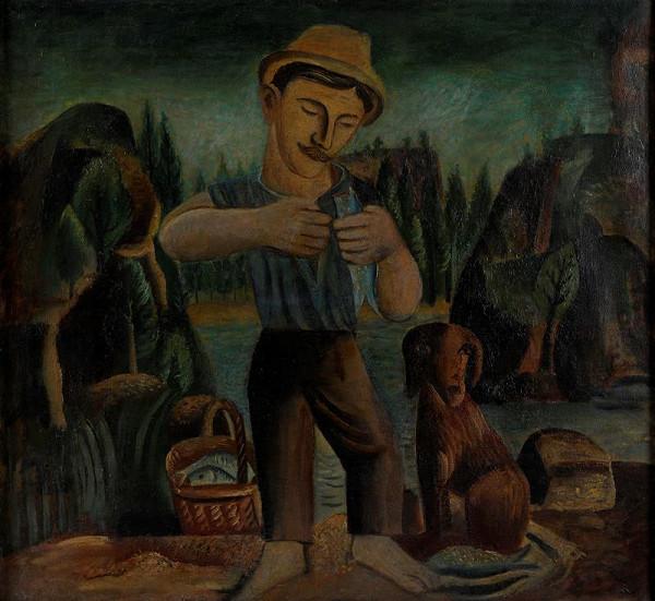 František Muzika - Rybář se psem