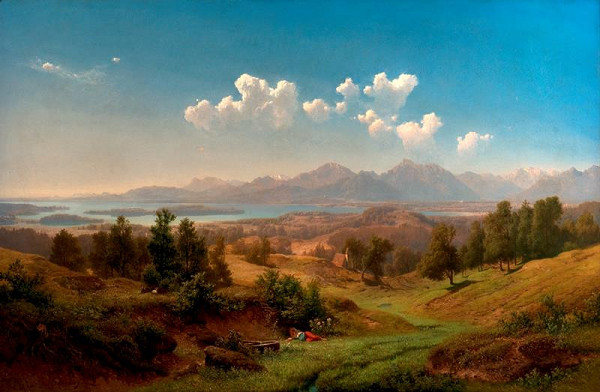Maximilian Haushofer - Chiemské jezero