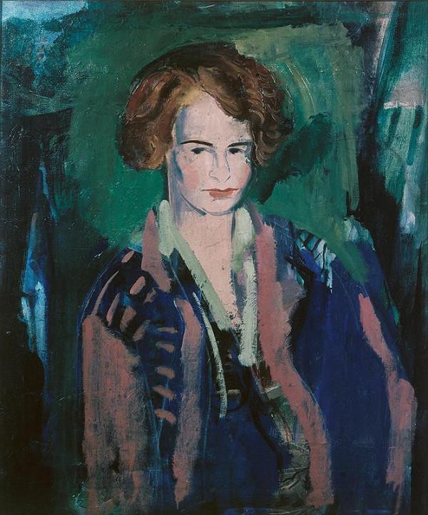 Miloslav Holý - Dívka v modrém (Podobizna Blanky Tampierové)