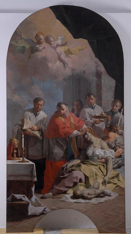 Caspar Franz Sambach - Sv. Karel Boromejský utěšuje nemocné morem