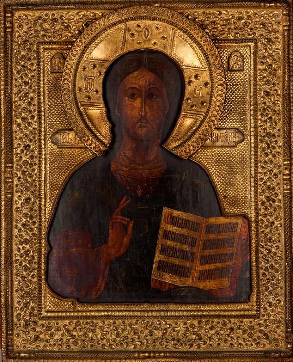 neznámý malíř ikon ruský - Kristus Pantokrator (ikona)