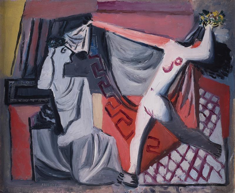 Alfred Justitz. Kompozice (Salome), 1932. Moravská galerie.