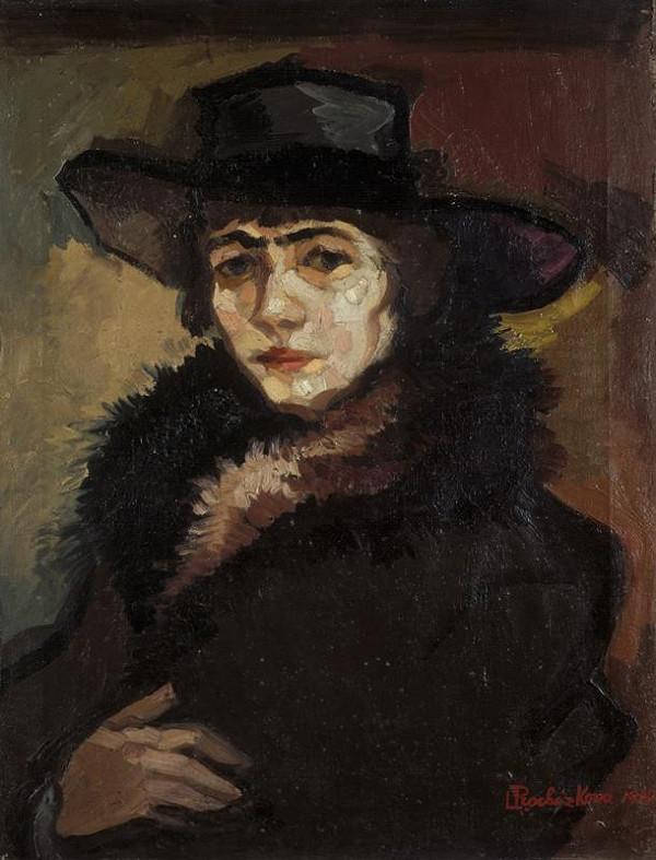 Linka Procházková-Scheithauerová - Autoportrét
