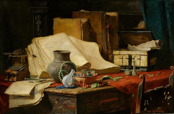 Hugo Charlemont - Stůl učence (Zátiší)