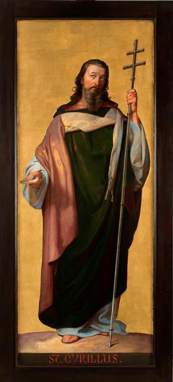 Josef  Vojtěch Hellich - Oltářní triptych (Sv. Metoděj)