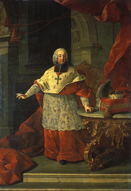 Martin van Meytens - Podobizna Ferdinanda Julia hraběte Troyera, biskupa olomouckého