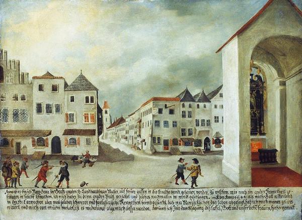 Marq (Max) Groer – Souboj v ulici Veselá v Brně - votivní obraz
