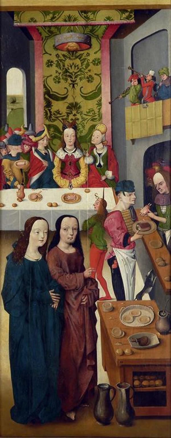 neznámý malíř nizozemský - Kristus v Káni Galilejské